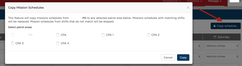 Copy Missions Schedule