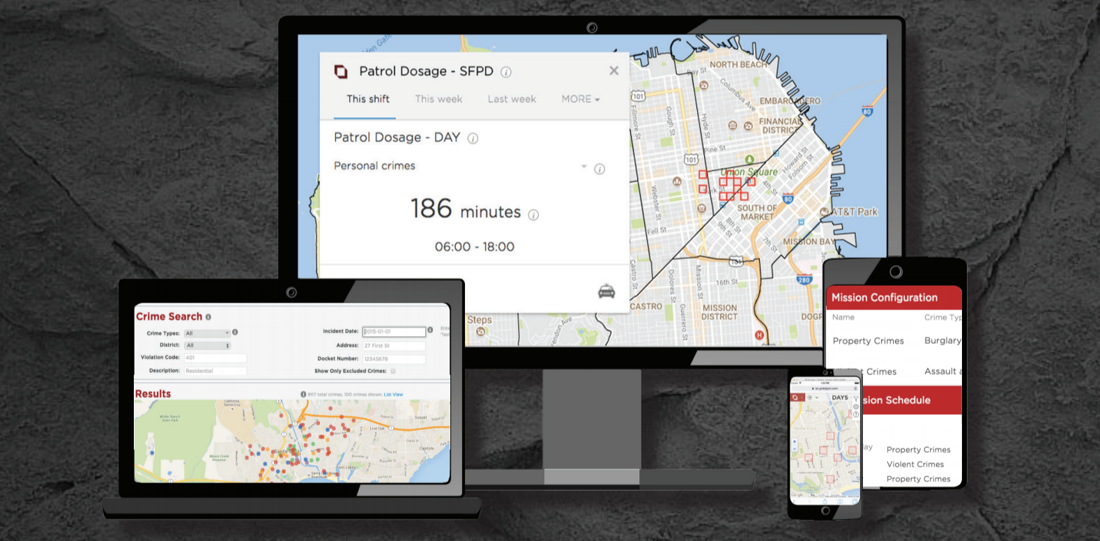 Screen Shot of PredPol Command Analytics